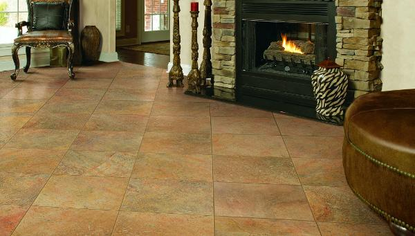 Small interior ceramic floor tiles