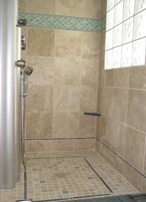 Tile Wall And Floor In Bathroom Tile Shower
