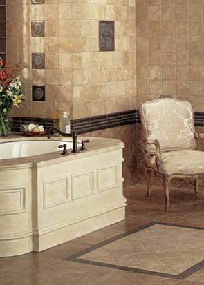 Sophisticated Tile Bathroom