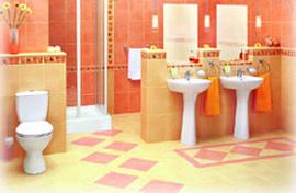 Bathroom in Warm Colors