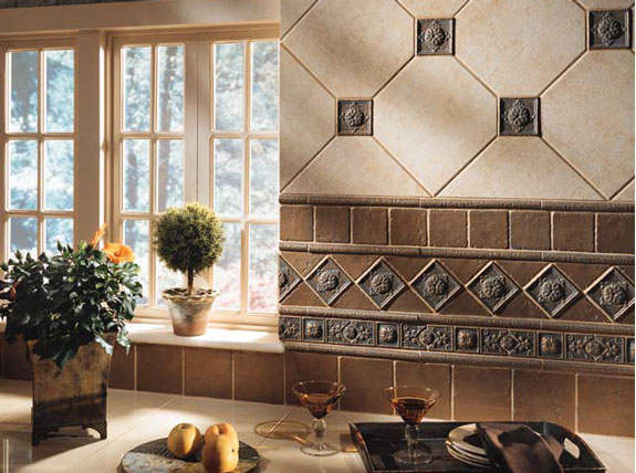 using ceramic tile with metal