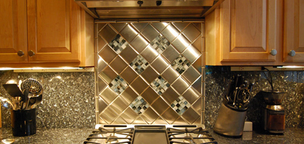 Metal Kitchen Tile Backsplash