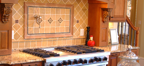 The extraordinary Country kitchen backsplash color image